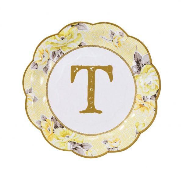 12 Truly Scrumptious TEA Dessert Pappteller -1128