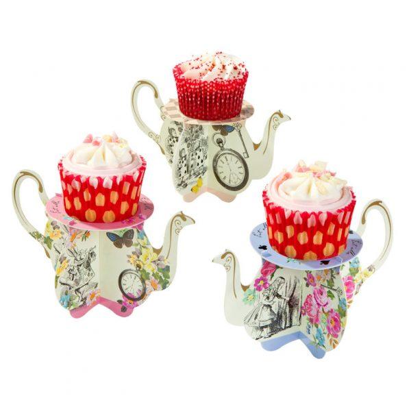 Truly Alice Mini Teekanne Cupcake Ständer-1106