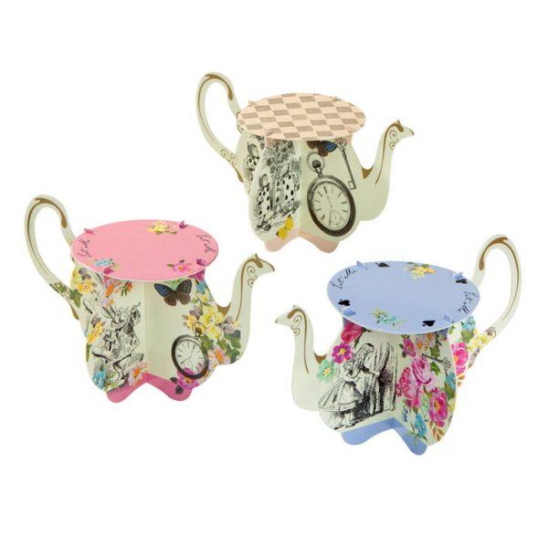 Truly Alice Mini Teekanne Cupcake Ständer-1105