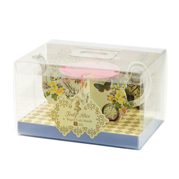 Truly Alice Mini Teekanne Cupcake Ständer-1104