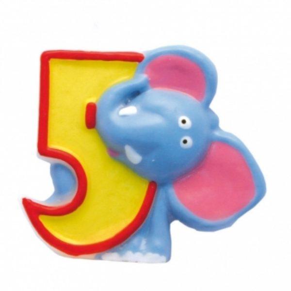 Zahlenkerze 5 Safari-0