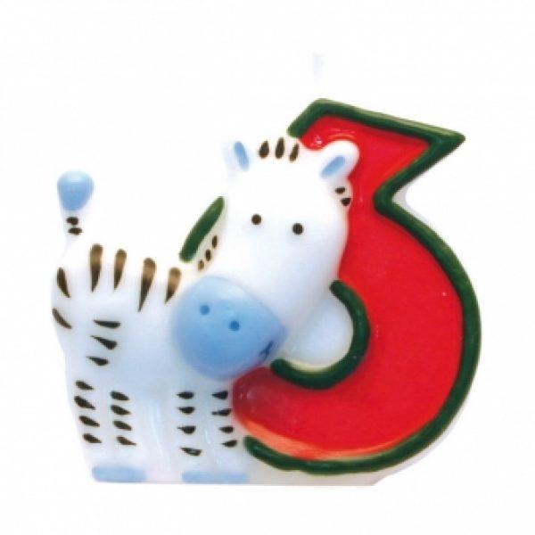 Zahlenkerze 6 Safari-0