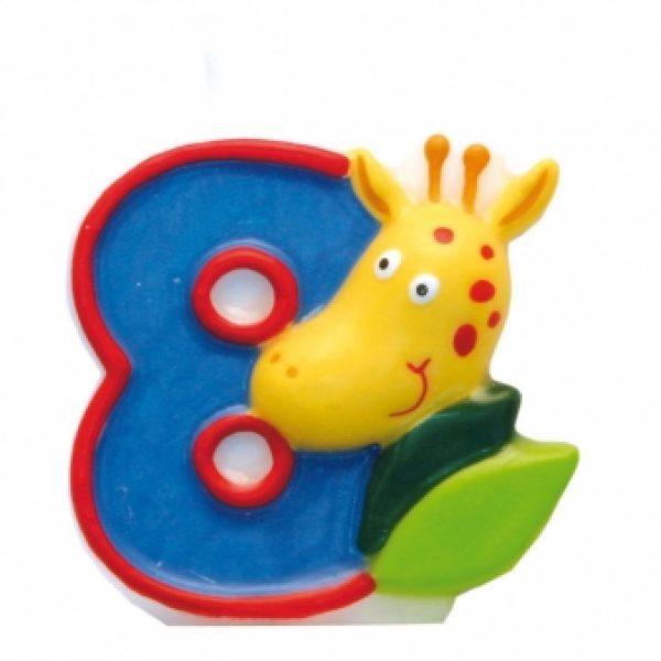 Zahlenkerze 8 Safari-0