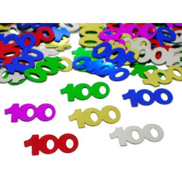 """Konfetti """"100"""" Bunt-0"""
