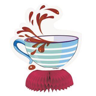 4 Alice in Wunderland Party Tischdekoration Teetasse Aufsteller-0