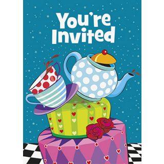8 Alice in Wunderland Party Einladungen-0
