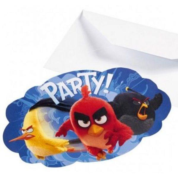 8 Angry Birds Einladungen-0