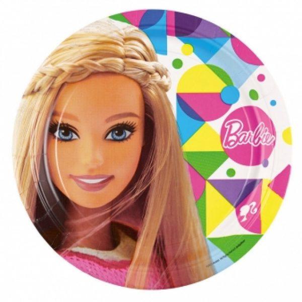 8 Barbie Sparkle Pappteller-0