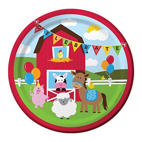 8 Bauernhof Party Pappteller-0