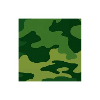 16 Camouflage Dessert Servietten -0