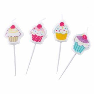4 Cupcakes Mini-Kerzen-0