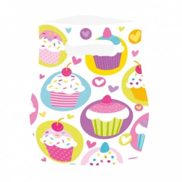 6 Cupcakes Partytüten-0