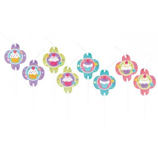8 Cupcakes Strohhalme-0
