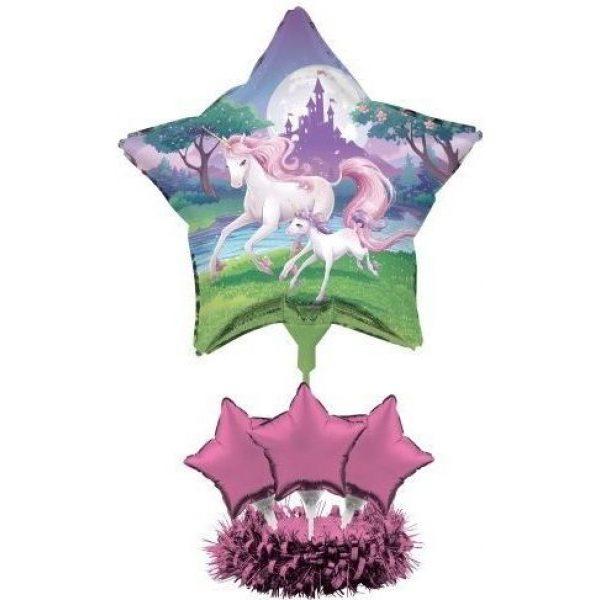 Einhorn Fantasy Folienballon Tischdekoration-0