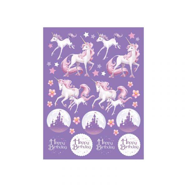 Einhorn Fantasy Sticker 4 Bogen-0