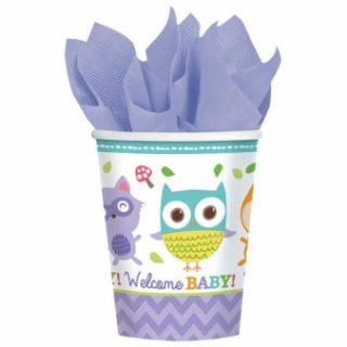 8 Waldeule Baby Pappbecher-0