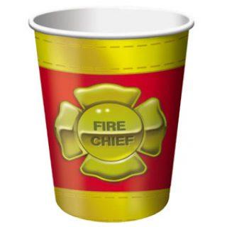 8 Feuerwehr Fire Chief Pappbecher -0