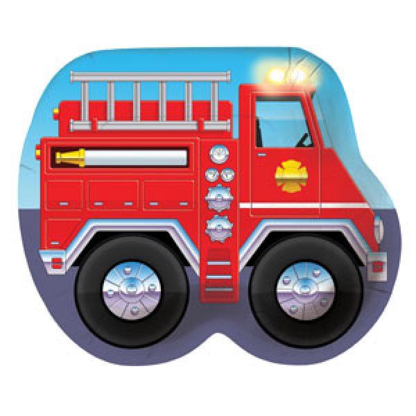 8 Feuerwehrauto Pappteller-0
