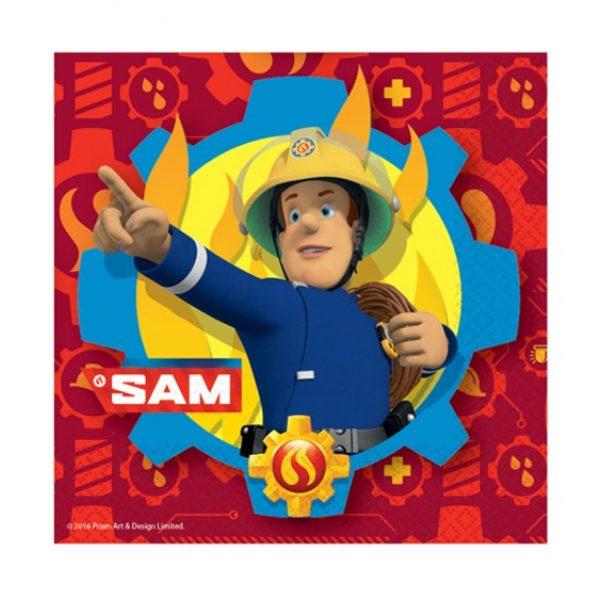 20 Feuerwehrmann Sam Servietten-0