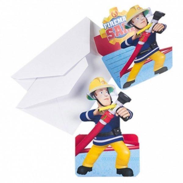 8 Feuerwehrmann Sam Einladungen-0