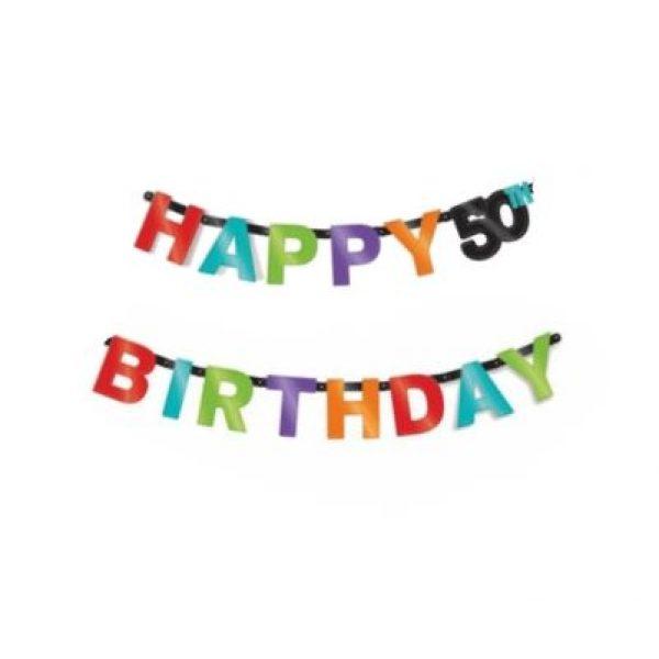 Happy 50th Birthday Girlande-0