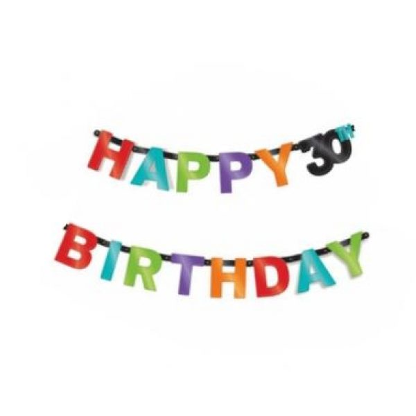 Happy 30th Birthday Girlande-0