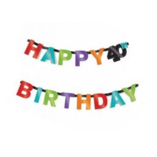 Happy 40th Birthday Girlande-0