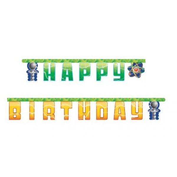 Mad Scientist Experimente Happy Birthday Girlande-0