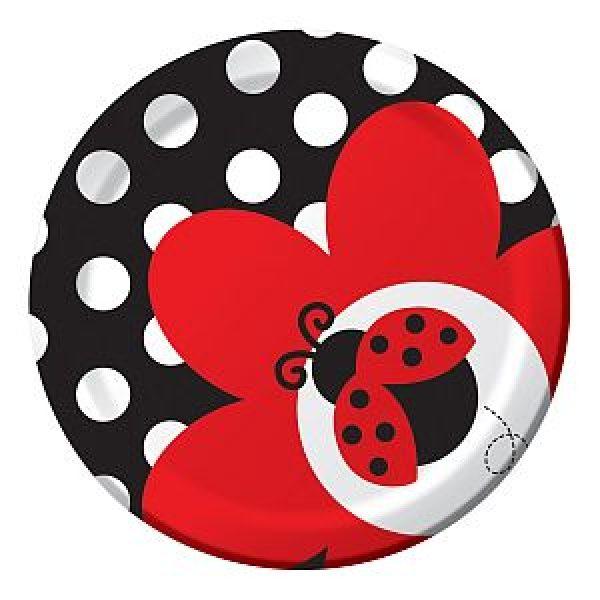 8 Marienkäfer Ladybug Party Dessert Pappteller-0