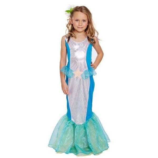 Meerjungfrau Kostüm 4-6 Jahre-0