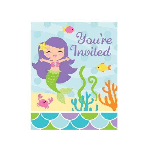 8 Meerjungfrau Einladungen-0