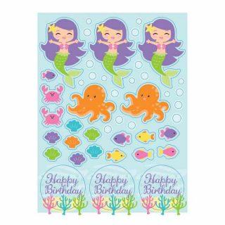 Meerjungfrau Sticker 4 Bogen-0