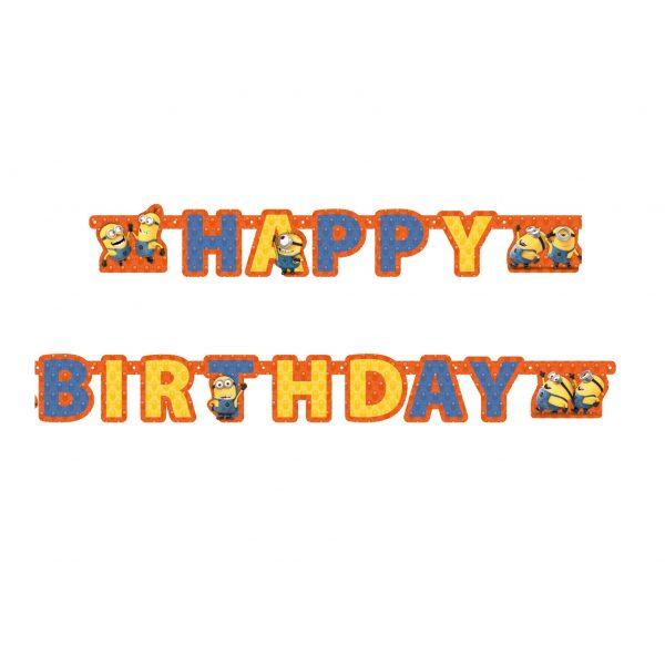 Minions Happy Birthday Girlande-0