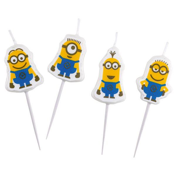 4 Minions Mini-Kerzen-0