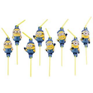 8 Minions Party Strohhalme-0