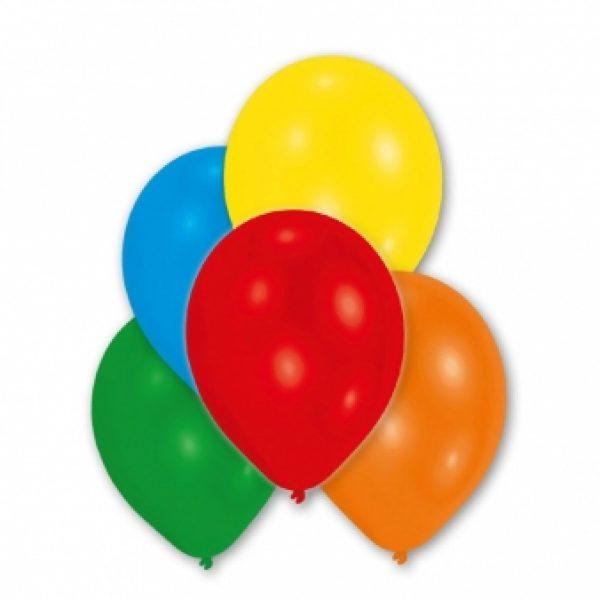 10 Metallic Multi-farbig Latex Ballons 28 cm-0