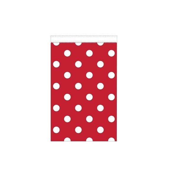 20 Mini Papiertüten Rot Weiß Dots-0