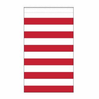 15 Medium Papiertüten Rot Weiß Stripes Streifen-0