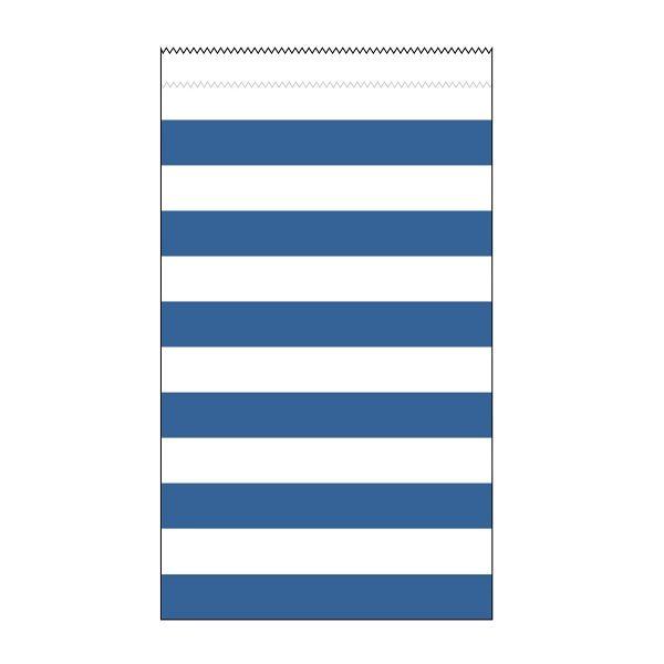 15 Medium Papiertüten Blau Weiß Stripes Streifen-0