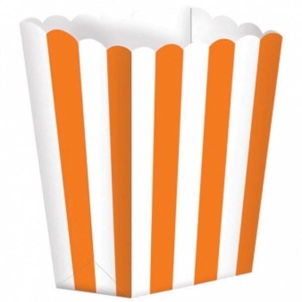 5 Treat Boxen - Orange Weiss gestreift-0