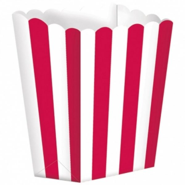 5 Treat Boxen - Rot Weiss gestreift-0