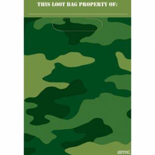 8 Camouflage Partytüten-0