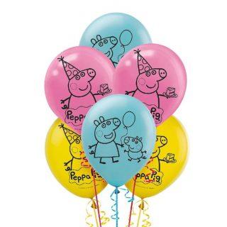 6 Peppa Wutz Luftballons 28 cm-0