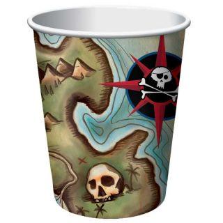 8 Piratenschiff Pappbecher -0