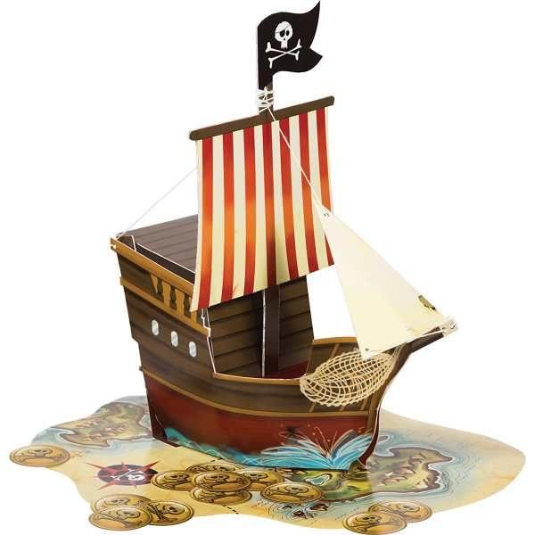 3D Piratenschiff Tischdekoration-0