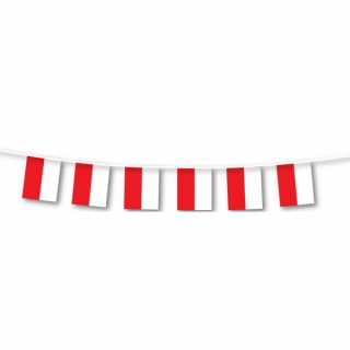 Rot Weiss Wimpelkette 7 m-0