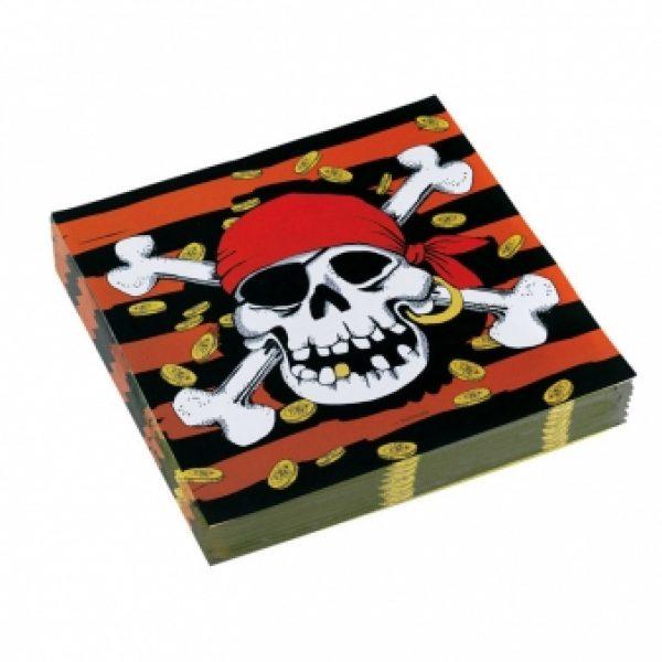 20 Jolly Roger Pirat Servietten-0