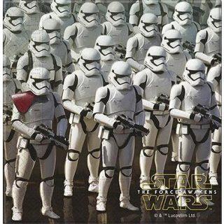 20 Star Wars Awakens Storm Trooper Servietten-0
