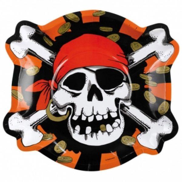 6 Formteller Jolly Roger Pirat -0