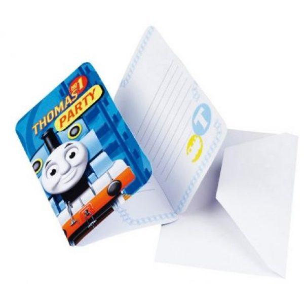 6 Thomas die Lokomotive Einladungen-0